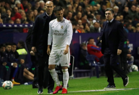 "Z. Zidane'as apie E. Hazardo traumą: ""Neatrodo gerai"""