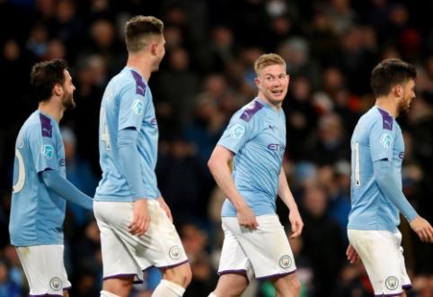 """""""Man City"""" neturėjo problemų dvikovoje su """"West Ham"""""""