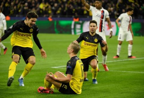 """Aštuntfinalių starte – Haalando dublis į PSG vartus ir """"Liverpool"""" pralaimėjimas Madride"""