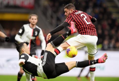 """C. Ronaldo išgelbėjo """"Juventus"""" nuo pralaimėjimo pirmajame Italijos taurės pusfinalio mače"""