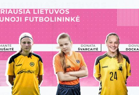 Geriausios Lietuvos jaunosios futbolininkės iš arti