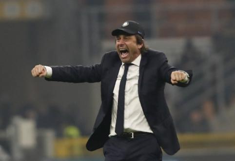 """A. Conte po pergalės Milano derbyje: """"Tai buvo ypatingas vakaras"""""""
