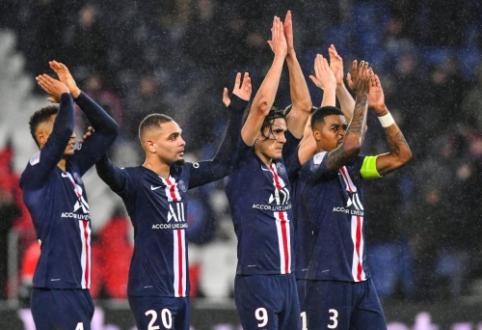 """PSG šešių įvarčių fiestoje įrodė pranašumą prieš """"Lyon"""""""