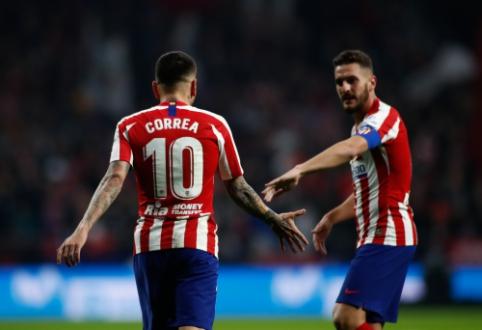 """A. Correa įvartis grąžino """"Atletico"""" į pergalių kelią Ispanijoje"""