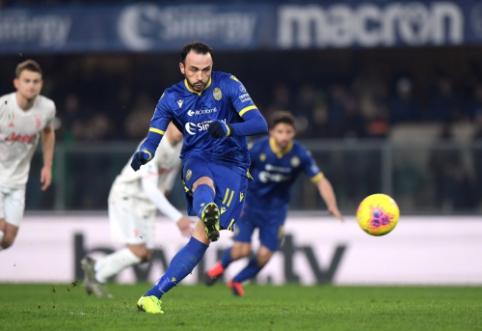 """Rekordinio C. Ronaldo įvarčio neužteko: """"Verona"""" paguldė ant menčių """"Juventus"""""""