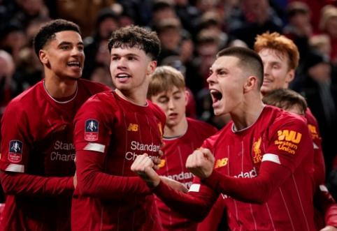 """FA taurė: """"Liverpool"""" dar kartą turėjo paplušėti su """"Shrewsbury"""""""