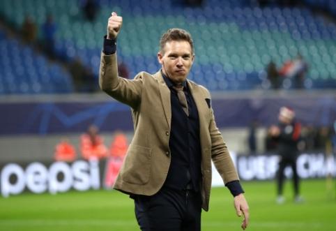 """Į ketvirtfinalį """"Leipzig"""" atvedęs J. Nagelsmannas: """"Labai svarbu išlaikyti savo žaidimo identitetą"""""""