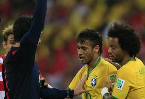 G.Linekeris: sunku išrinkti geriausią žaidėją Brazilijos rinktinėje - Neymaras ar teisėjas?
