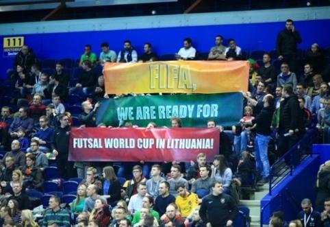Lietuvoje vyksiančio pasaulio salės futbolo čempionato ateitis paaiškės balandžio pabaigoje