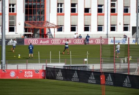 """""""Bayern"""" futbolininkai sugrįžo į treniruotes"""