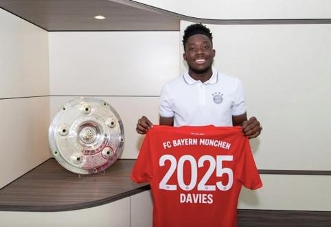 """""""Bayern"""" susiejo ateitį su kylančia žvaigžde A. Daviesu"""