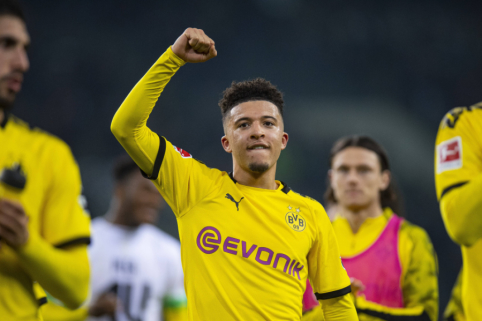 """Sky Sports"": J. Sancho greičiausiai dar sezonui liks Dortmunde"