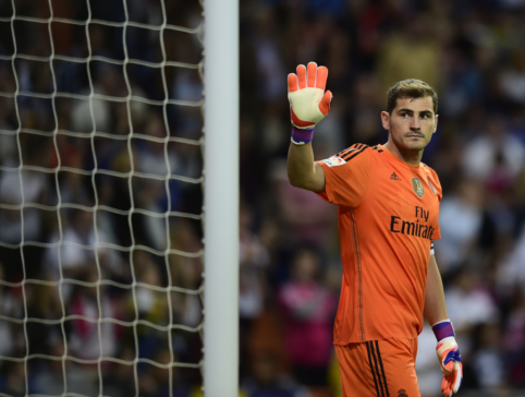 """I. Casillasas darbuosis Madrido """"Real"""" ekipoje"""
