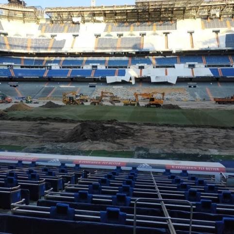 """Kaip šiuo metu atrodo """"Santiago Bernabeu"""" stadionas"""