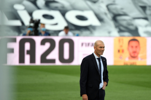 Z. Zidane'o nenustebino K. Mbappe pasirodymas Barselonoje