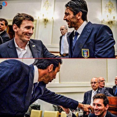 G. Buffonas buvo patikrinęs, ar L. Messi tikrai yra žmogus