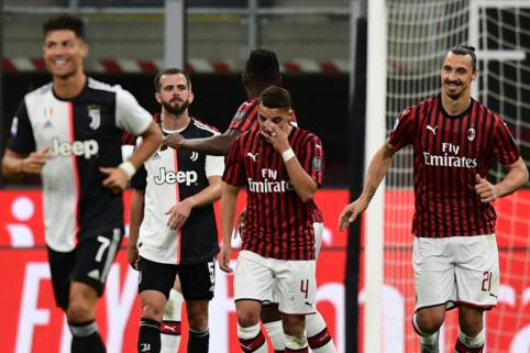 """Italijos grandų dvikovoje: trys """"AC Milan"""" įvarčiai per penkias minutes"""