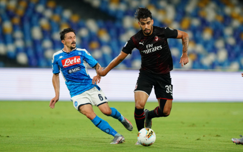 """""""Napoli"""" ir """"AC Milan"""" išsiskyrė taikiai"""