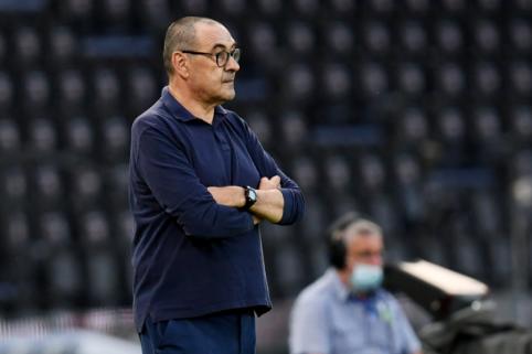 """M. Sarri stoja prie """"Lazio"""" vairo"""