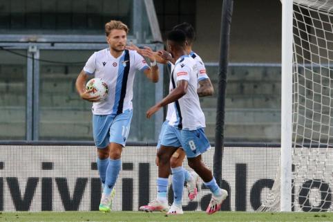 """""""Serie A"""": """"Lazio"""" šventė įtikinamą pergalę"""