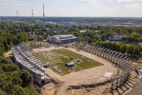 S. Dariaus ir S. Girėno stadione atnaujinamos statybos
