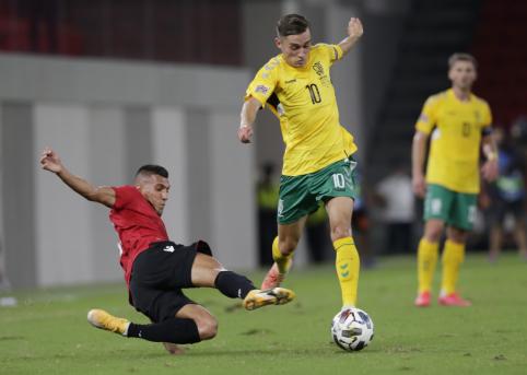 Maloni staigmena: Lietuvos rinktinė išvykoje palaužė Albaniją