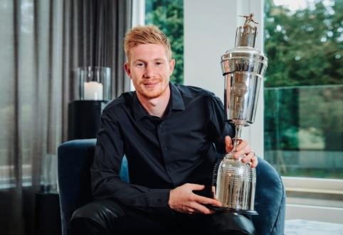 PFA metų futbolininku išrinktas K. De Bruyne, geriausias jaunas žaidėjas – T. Alexanderis-Arnoldas