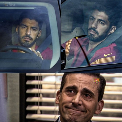 """Susisielojęs L. Suarezas paliko """"Barcelona"""" treniruočių bazę"""