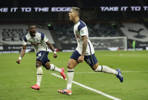 """""""Tottenham"""" po baudinių serijos iškovojo kelialapį į Anglijos lygos taurės ketvirtfinalį"""