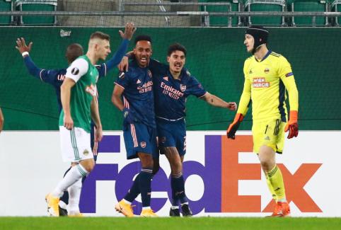 """EL: """"Arsenal"""" išsigelbėjo Vienoje, """"Bayer"""" pasismagino mače su """"Nice"""""""