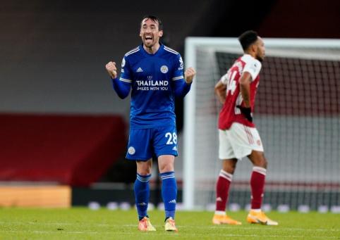 """""""Leicester"""" rungtynių pabaigoje palaužė """"Arsenal"""" ekipą"""