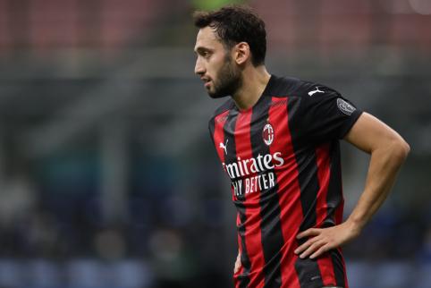 """""""Milan"""" pagerino pasiūlymą H. Calhanoglu"""