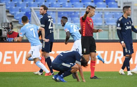 """""""Lazio"""" paskutinę akimirką atėmė du taškus iš """"Juventus"""""""