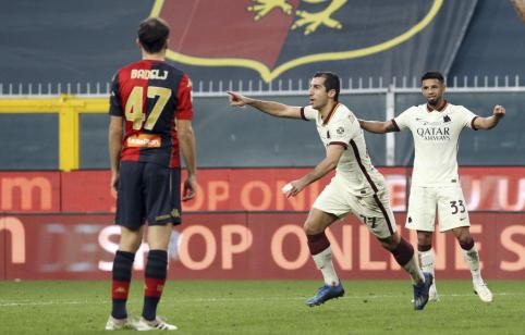 """""""Serie A"""": H. Mkhitaryano vedama """"Roma"""" iškovojo lengvą pergalę, """"Inter"""" su """"Atalanta"""" pasidalino po tašką"""