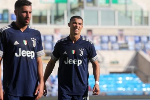 """C. Ronaldo nepadidins savo įvarčių sąskaitos mače prieš """"Benevento"""""""