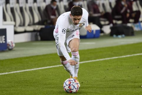 """""""Real"""" saugui F. Valverde lūžo koja"""