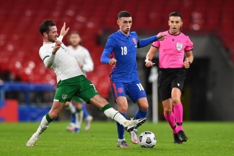 Anglai draugiškose rungtynėse nepasigailėjo Airijos rinktinės