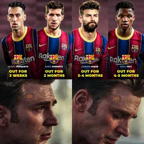 """Barcelona"" komandoje – traumų epidemija"