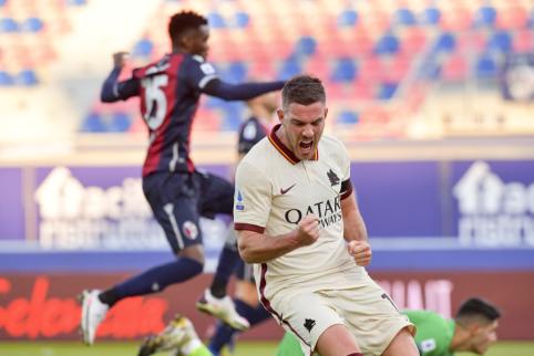 """Serie A"": ""AS Roma"" pasismagino prieš ""Bologna"", ""Atalanta"" susidorojo su ""Fiorentina"""