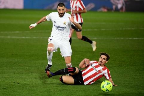 """Madrido """"Real"""" palaužė mažumoje likusią Bilbao """"Athletic"""" ekipą"""