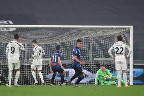"""Ronaldo košmaras: nerealizuotas 11 metrų baudinys ir dar vienos """"Juventus"""" lygiosios"""