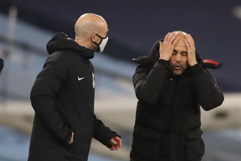 """J. Guardiola prabilo apie """"Man City"""" planus žaidėjų turguje"""
