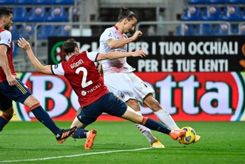 """Z. Ibrahimovičius atvedė """"Milan"""" į pergalę prieš """"Cagliari"""""""