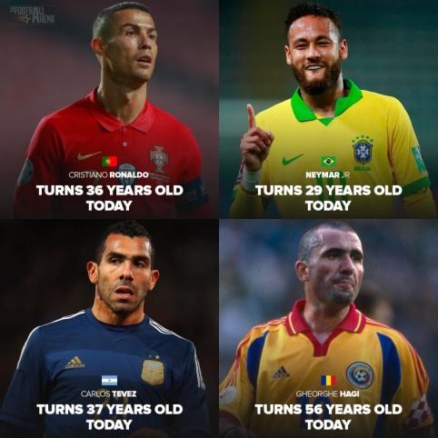 Vasario 5 dieną – futbolo garsenybių gimtadieniai