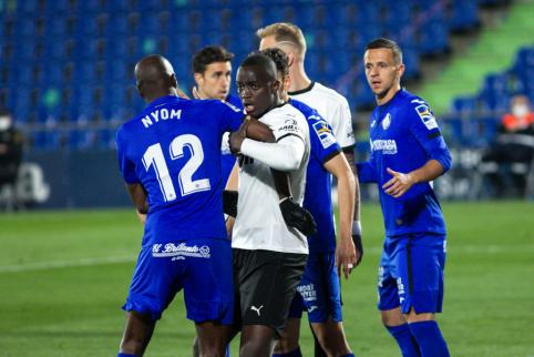 """""""Valencia"""" žaidėjai dėl rasistinių įžeidinėjimų buvo palikę aikštę"""