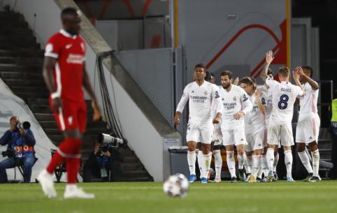 """ČL: """"Real"""" susitvarkė su """"Liverpool"""", """"Man City"""" išvargo pergalę prieš BVB"""