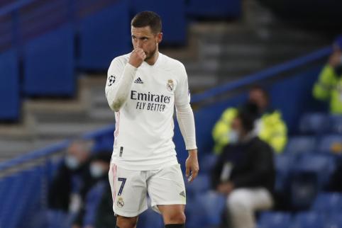 Hazardas atsiprašė fanų už juoką po pralaimėjimo Čempionų lygoje