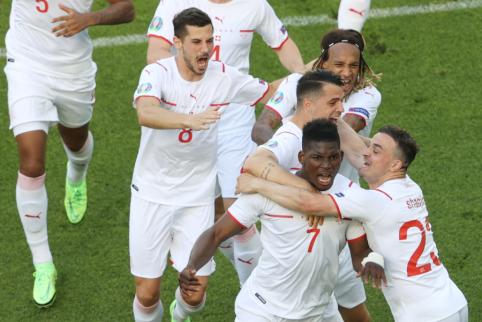 A grupė: Velso ir Šveicarijos mūšis baigėsi lygiosiomis
