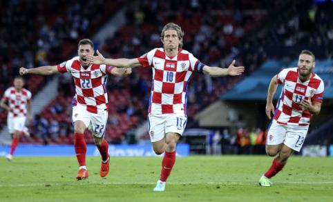 Kroatai prasibrovė į EURO 2020 aštuntfinalį