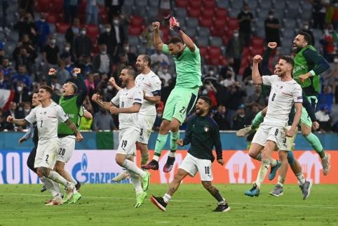 Pirmasis EURO 2020 pusfinalis: nesustabdomi italai prieš banguojančius ispanus